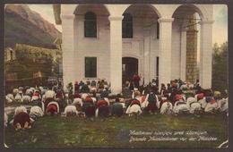 AUSTRIA / BOSNIA. 1910. POSTCARD OF MUSLIMS AT PRAYER OUTSIDE. BRCKO CANCEL. USED. - Bosnia And Herzegovina