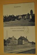 57 Moselle Gruss Aus Lemberg Hauptstrasse Bahnhof Und Postamt - France