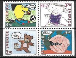 Suède 1995 N°1877/1880 Neufs Timbres De Messages - Unused Stamps