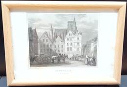 Marché D'Abbeville/ Marketplace Of Abbeville - Estampes & Gravures