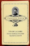 JEU De Cartes Publicitaire VIN De La Loire VALENTIN FLEUR 49 St SAINT-GEORGES-sur-LOIRE - Pub Publicité - à Jouer HERON - Carte Da Gioco