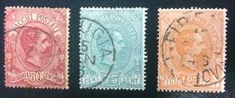 Effigie Di Umberto I - Pacchi Postali - 1884 - 50C, 75C E 1,25L USATI - 1878-00 Umberto I