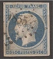 GRAND LUXE N°10c Bleu Sur Crème TBE/LUXE YetT Spé 70€ - 1852 Louis-Napoléon