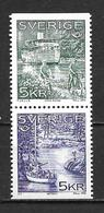 Suède 1995 N°1865/1866 Neufs Paire, Norden - Nuevos