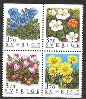 Suède 1995 N°1867/1870 Neufs Fleurs Des Montagnes - Sweden