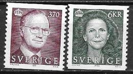 Suède 1995 N°1847/1848 Neufs Roi Et Reine - Sweden