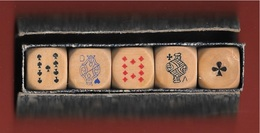 JEU JEUX - 5 Dés à Jouer POKER D'AS - Autres Collections