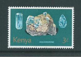 Kenya 1977 Minerals 3/- Aquamarine MNH - Kenya (1963-...)