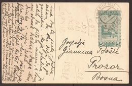 AUSTRIA / BOSNIA. 1915. 5h CARD. USED MOSTAR TO PROZOR. - Bosnia And Herzegovina