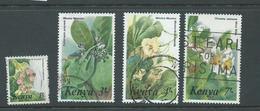 Kenya 1985 Redrawn Flowers 1/- -> 7/- FU - Kenya (1963-...)