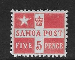 1895 Samoa Flag P11 MH Scott 23a CV $100 - Samoa