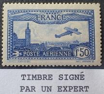 R1615/618 - 1930 - POSTE AERIENNE - AVION SURVOLANT MARSEILLE - N°6a NEUF* ☛ Signé - Cote : 70,00 € - 1927-1959 Mint/hinged