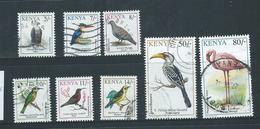 Kenya 1993 Birds Part Set Of 8 5/- To 80/- FU - Kenya (1963-...)