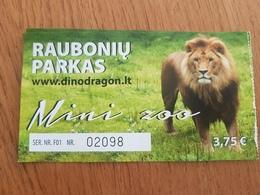 Lithuania Mini Zoo  Ticket 2019 Lion - Tickets - Entradas