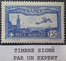 R1615/619 - 1930 - POSTE AERIENNE - AVION SURVOLANT MARSEILLE - N°6 NEUF* ☛ Timbre Signé BRUN Expert - 1927-1959 Mint/hinged