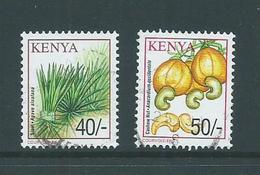 Kenya 2001 40/- & 50/- Plants FU - Kenya (1963-...)