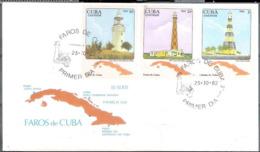 660  Lighthouses - Phares - 1982 FDC - Cb - 4,50 - Vuurtorens