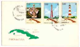 660  Lighthouses - Phares - 1983 - Yv 2459 à 2461 FDC - Cb - 4.75 - Vuurtorens