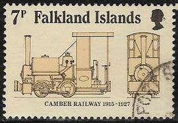 Falkland Islands SG497 1985 75th Anniversary Of Camber Railway 7p Good/fine Used [40/32632/4D] - Falkland Islands