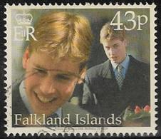 Falkland Islands SG879 2000 18th Birthday Of Prince William 43p Good/fine Used [40/32637/4D] - Falkland Islands