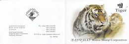 North Korea 2010 Stamp Painting Tiger Booklet - Corea Del Norte