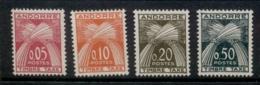 Andorra (Fr) 1961 Postage Dues MLH - Andorra Francesa