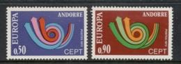 Andorra (Fr) 1973 Europa MLH - Andorra Francesa