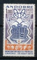Andorra (Fr) 1974 Arms Of Andorra & Cahors MLH - Andorra Francesa