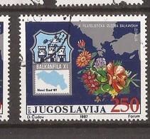 1987  2238  BALKANPHILA XI FLORA  JUGOSLAVIJA JUGOSLAWIEN USED - 1945-1992 Repubblica Socialista Federale Di Jugoslavia