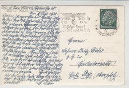 STEMPEL Deutsche Nothilfe 1919-1939 20 Jahre Kampf Gegen Not Und Gefahr Aus MÜNCHEN 8.9.39 - Briefe U. Dokumente