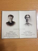 WAVRE AUGUSTE Vanpée 30/01/1941 Et EMMA Vanpée 26/08/1937 - Images Religieuses