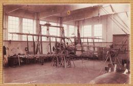 X33306 Superbe Carte-Photo Possible CAZAUX Gironde Atelier De Contruction Montage Biplan Bois Cpavion 1930s - France