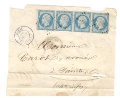 20844 - Bande  De 4 Exemplaires - Storia Postale