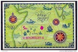 """Seychelles**  Bloc N° 2 - """"Les Seychelles Sur La Carte"""" - Seychelles (1976-...)"""
