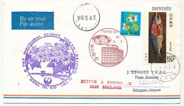 JAPON / CHINE - Premier Vol B 747 - Inaugural Flight TOKIO => BEIJING - 3/10/1985 - Airmail