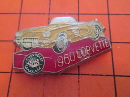 412B PIN'S PINS / Rare Et De Belle Qualité ! / Thème : AUTOMOBILES / CHEVROLET CORVETTE JAUNE DE 1960 - Pin's