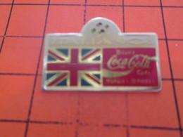 1117 PIN'S PINS / Rare Et De Belle Qualité ! / Thème : COCA-COLA / MONDIAL FOOT 90 DRAPEAU ANGLETERRE - Coca-Cola