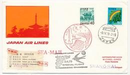 JAPON / CHINE - Premier Vol Japan Air Lines - Special Flight Nagakasi => Shangai - 3/4/1979 - Airmail