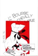 CP- 4° Bourse Pour Collectioneurs Cartes Timbres Monnaies - Chevilly Larue - 1984 - Bourses & Salons De Collections
