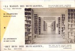 Vloeipapier Buvard Brussel Huis Der Mutualisten 50 Apotheken - Bruxelles La Maison Des Mutualistes - 50 Pharmacies - Buvards, Protège-cahiers Illustrés