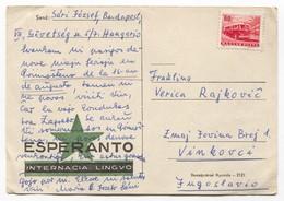 ESPERANTO Hungary - Postal Stationery 1965. Traveled To Croatia - Esperanto