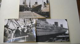 3 PhotoS Embarquement Sur Un Paquebot Transatlantique . Le France ? .photo Le Boyer Reportage Publique Trinité . - Barche