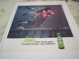 ANCIENNE PUBLICITE GOUT ETRANGE  GINI 1976 - Alcolici