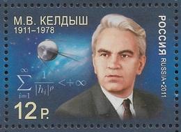 Russia 2011,Mstislav Keldysh-М.Келдыш,Soviet Space Scientist,Sc # 7254,VF MNH** - Russia & USSR