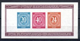 ALLEMAGNE ZONE AAS - YT BF N° 1a Non Dentelé - Neuf ** - MNH - Cote: 75,00 € - Zona AAS