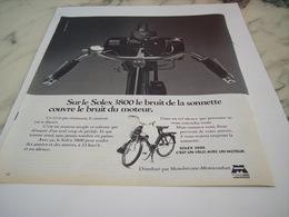 ANCIENNE PUBLICITE BRUIT DU MOTEUR VELOSOLEX 1976 - Motos