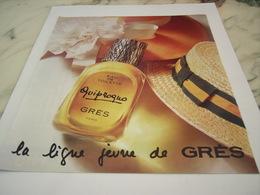 ANCIENNE PUBLICITE PARFUM QUIPROGUO DE GRES 1976 - Perfume & Beauty