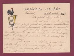 050619 - MILITARIA 1920 Illustration Cop Clairon 46e Division Haute Silésie POLOGNE GLEIWITZ GLIWICE - Documents