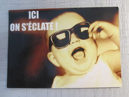 ICI ON S'ECLATE ENVIRONMENT PRESERVATION FRANCE POST VINTAGE POSTCARD PC TOURISM ADVERTISING - Unclassified