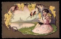 Illustrateur CHIOSTRI, Enfants Avec Des Oiseaux - Chiostri, Carlo